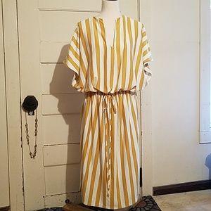 Fantastic Fawn Striped Midi Dress